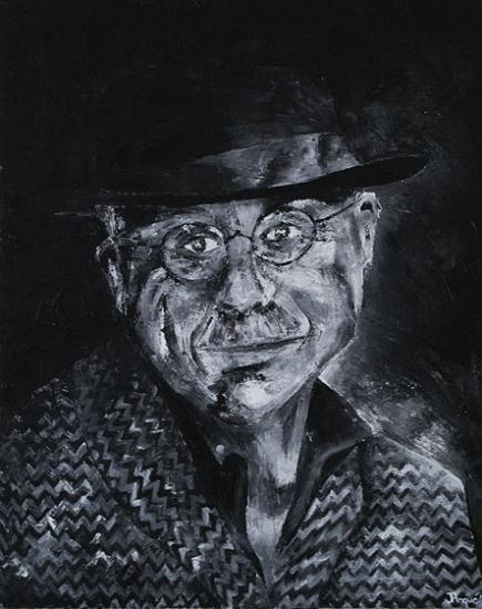 Chapeau Noir, 50x65 cm, huile sur toile, 2004