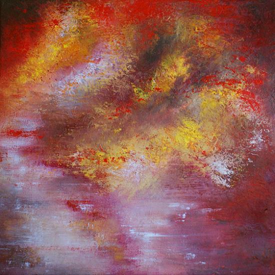 Paysage d'Automne, 40x40 cm, huile sur toile, 2010