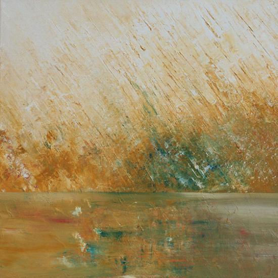 Soleil couchant, 50x50 cm, huile sur toile, 2010
