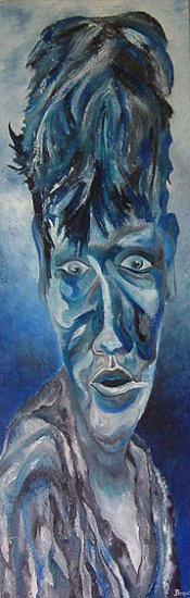 Gamin,  30x90 cm, huile sur toile, 2004