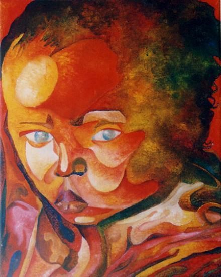 Bébé, acrylique sur toile, 2003