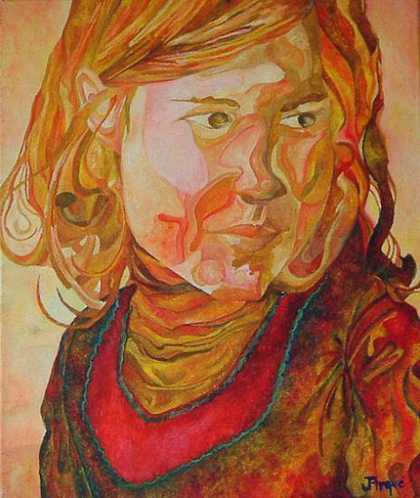 Fillette, acrylique sur toile, 2004