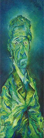 Vieil Homme, 25x75 cm, huile sur toile, 2004