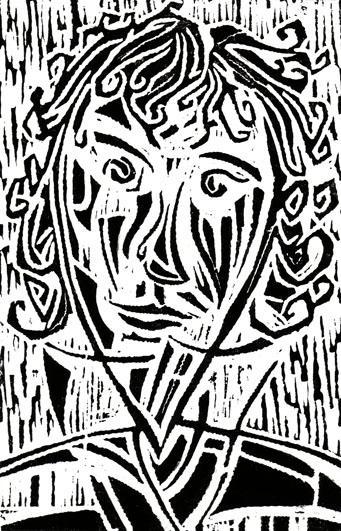 Sous la pluie 2, 15x24 cm, encre sur papier, 2004