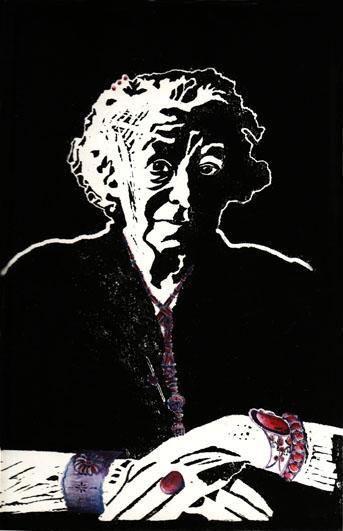 Vieille Femme aux Bijoux-3, 28x40 cm, encre sur papier, 2006