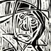 Homme sous la pluie, 15x21 cm, encre sur papier, 2004